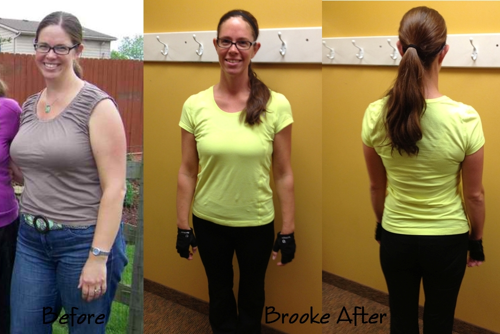 Before and After Photo of Results of Health and Fitness Coaching Client, Brooke - Higher Health Coaching